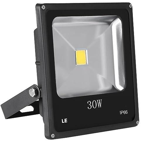 LE 30W Super Bright Outdoor LED Flood Lights, 75W HPS Bulb Equivalent,  Waterproof,
