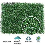 ART TO REAL Artificial Boxwood Panels, 4 Pieces Artificial Boxwood Plants Fences, Artificial Topiary Hedge Plant Privacy Fence Screen Greenery Panels (Boxwood)