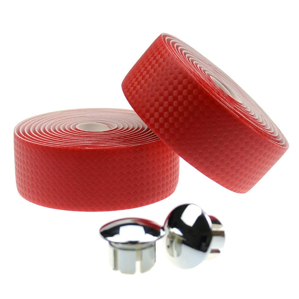 Ailicici Bicycle Handlebar Bar Tape Wrap Road Bikes Cycling, 2PCS per Set 2PCS per Set (01)