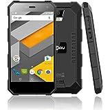 NOMU S10 IP68 Smartphone Triproof Sbloccato 4G 5.0 Pollici HD IPS Android 6.0 Quad Core Dual SIM Batteria 5000mAh 2GB RAM+16GB ROM Fotocamera 8MP Antipolvere e Impermeabile Antiurto (Nero)