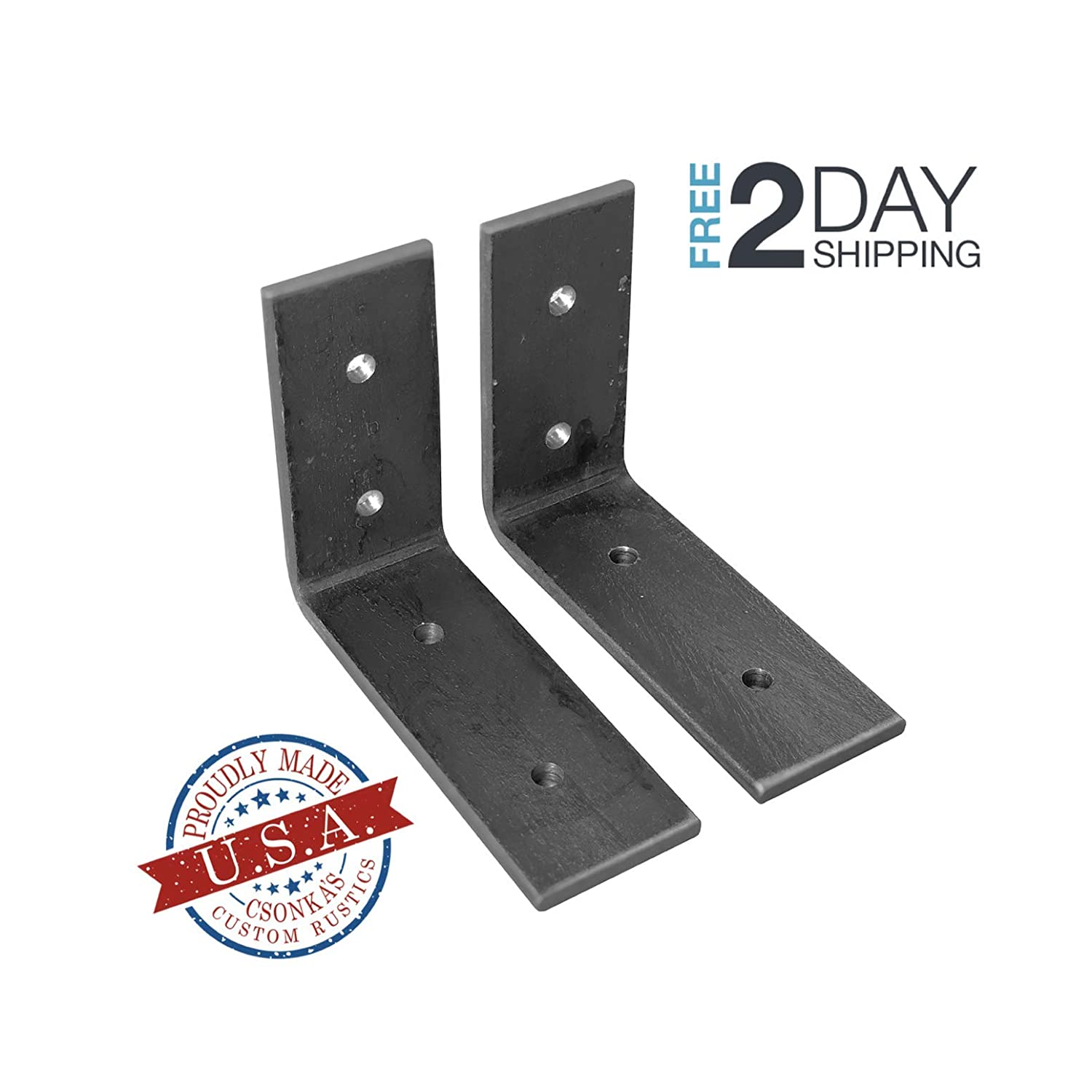 "2 Pack - 4""L X 3""H Angle Shelf Bracket, Iron Shelf Brackets, Metal Shelf Bracket, Industrial Shelf Bracket, Modern Shelf Bracket, Shelving"
