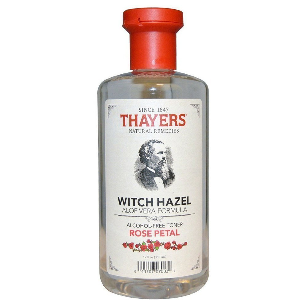 Thayers Alcohol-Free Rose Petal Witch Hazel Toner with Aloe Vera Formula-12 Oz, 14.30 Ounce