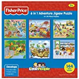 Fisher-Price 6-in-1 Adventure Jigsaw Puzzle (Little People), Multi-Pack
