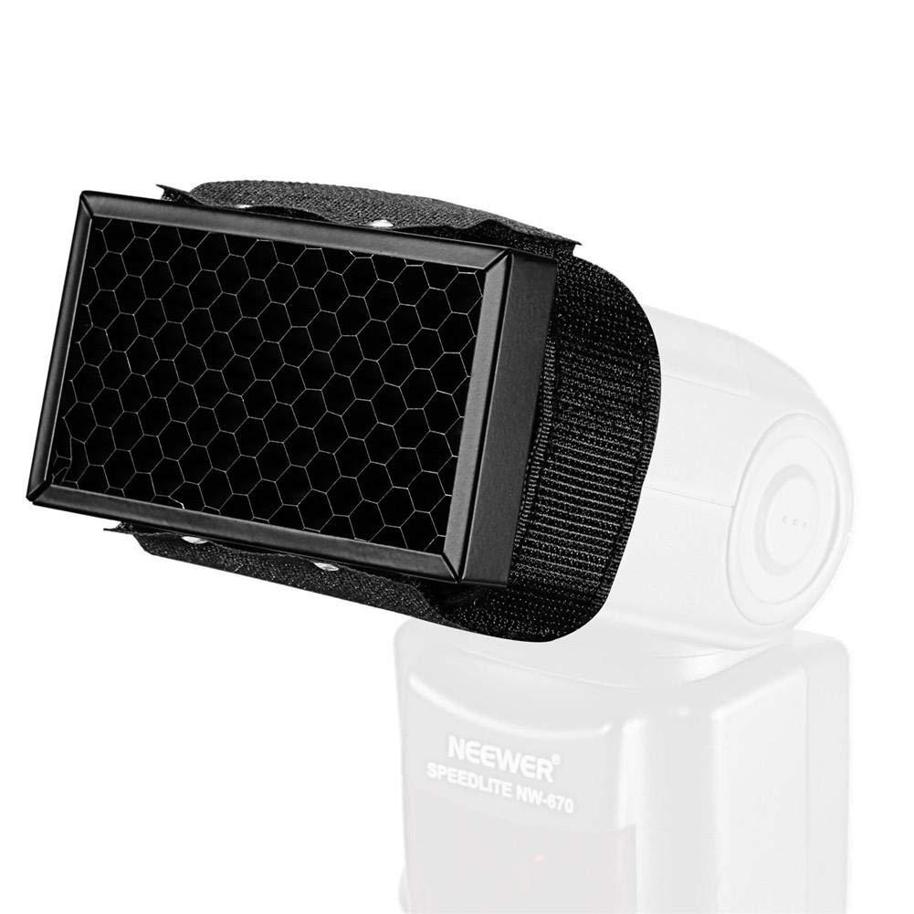 Kbsin212/dedicato a nido d ape Honeycomb Quick griglia portatile flash attaccamento di flash cinghia con passante regolabile per effetti di luce