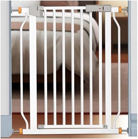 Barreras de puerta Escalera Barandilla De Seguridad For Bebés Valla De Seguridad Barandilla For Bebés Valla For Niños Valla For Mascotas Valla For Perros Barra De Puerta Plegable Instalación Sin Perfo: Amazon.es: