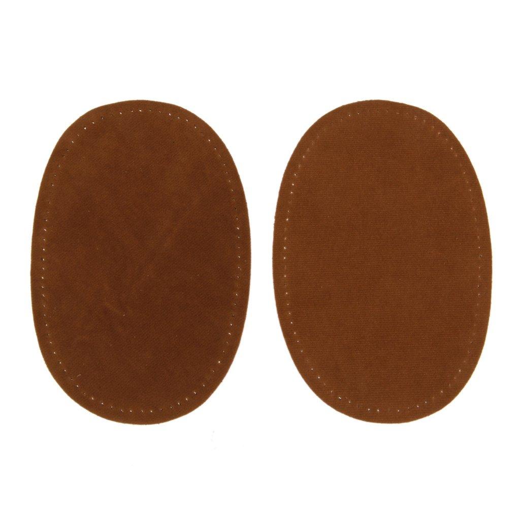 Open Buy - Lot de 2 coudières marron daim micro-perforées à coudre avec le fil de votre choix bordeaux, beige, noir - Pour vestes, chemises, blousons, pulls, blazers - Pour donner un nouveau look et réparer vos vêtements