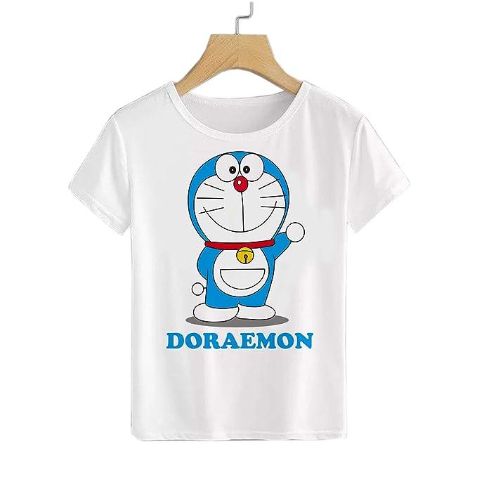 TIANBA Man Custom Cool Tee Shirt Doraemon Snowball Fight Tshirts
