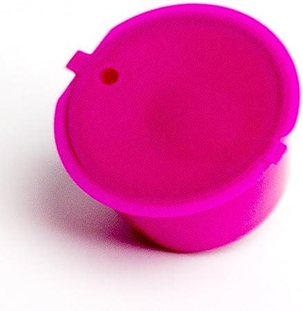 Adaptador de cápsula recargable para máquinas Nestlé Dolce Gusto, soporte para cápsulas de café, buena alternativa reutilizable (marrón)., rojo rosado, Tamaño libre: Amazon.es: Hogar