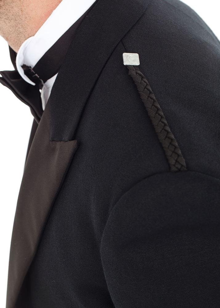 Kilt Society Mens Scottish Black Prince Charlie Kilt Jacket & Vest 52 Regular by Kilt Society (Image #7)
