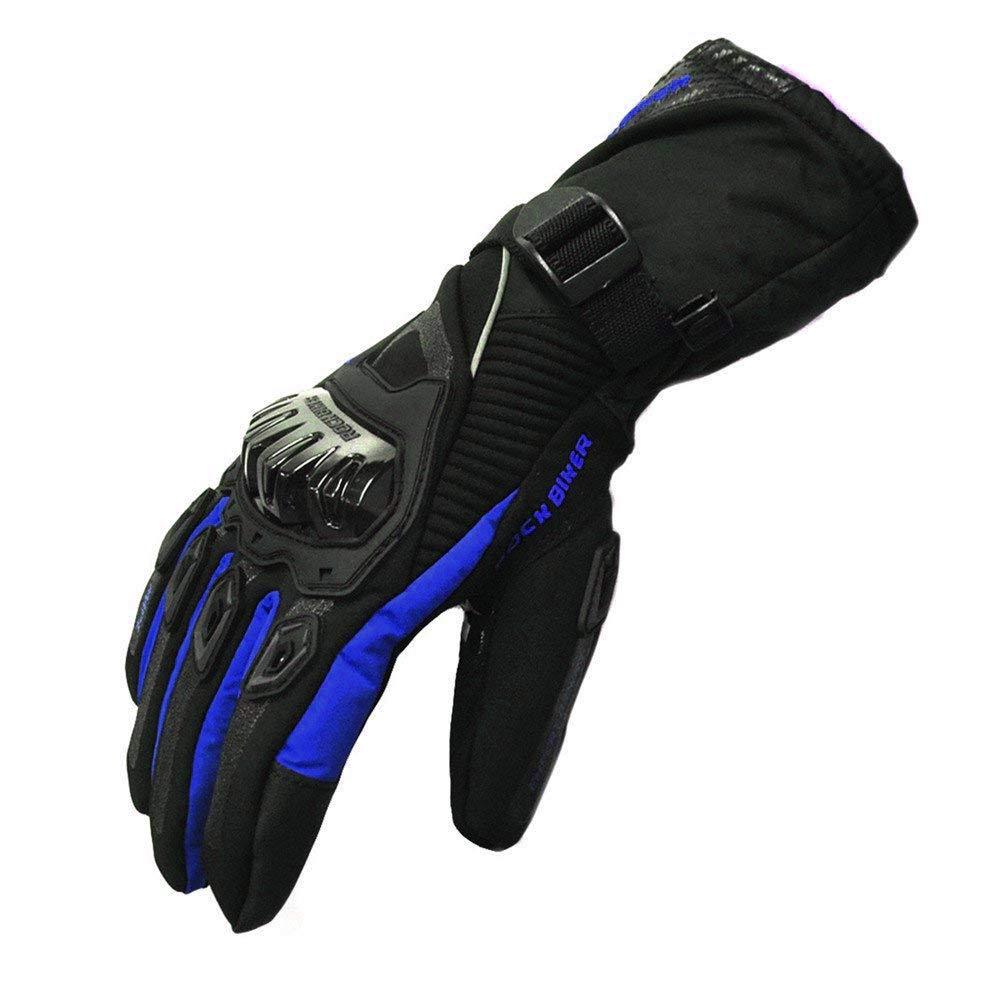Guantes largos protectores de cuero MBSmoto MBG25 para motociclismo y turismo en motocicleta