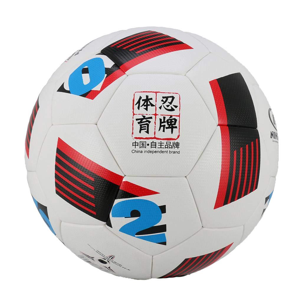 Baoblaze Balón de Fútbol de Cuero Artificial para Entrenamiento al ...