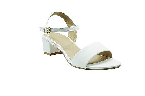 bd0a885789d LoferKama White Box Heel Sandals for Women   Girls  Buy Online at ...