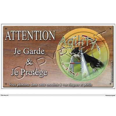 Panneau chien ou plaque Agility-Border-Collie-02 20 cm