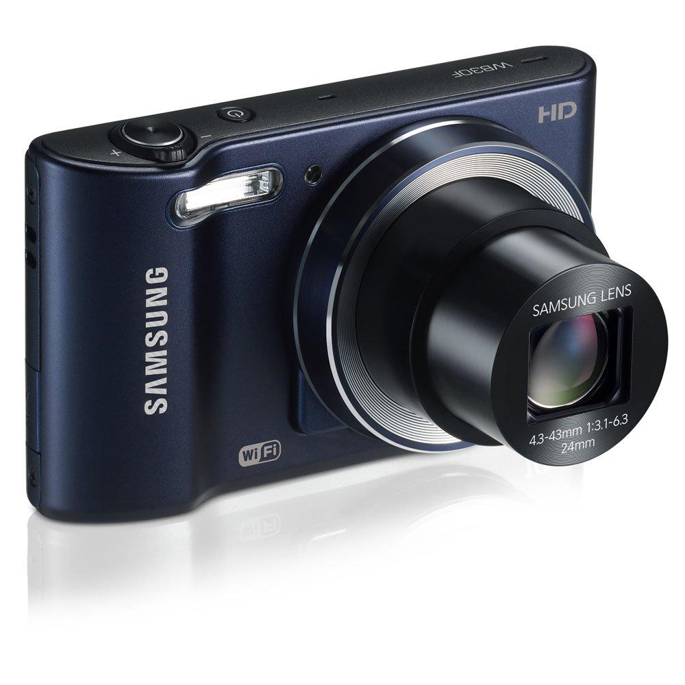 Samsung WB30F Smart Wi-Fi Digital Camera, 16.2 Megapixel, 10X zoom, 3.0'' LCD Display (Black)