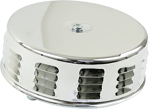 """Chrome Louvered Air Cleaner Stock Carb 2/"""" Neck 8674 EMPI VW Bug 5-1//2/""""// 3/""""Tall"""