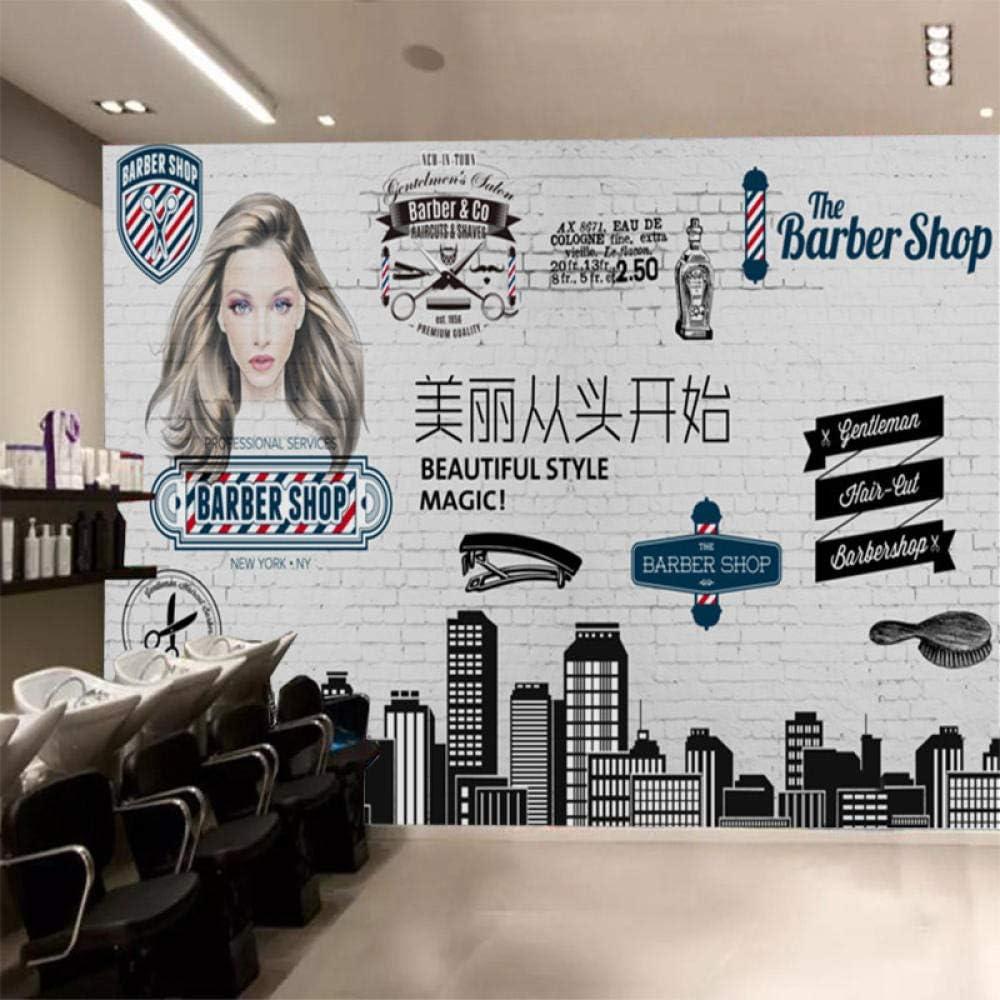 Mbwlkj Modern Beautiful From Scratch Wallpaper Mural For Gentleman Hair Salon Barber Shop Background Brick Wallpaper 3d 400cmx280cm Amazon Com