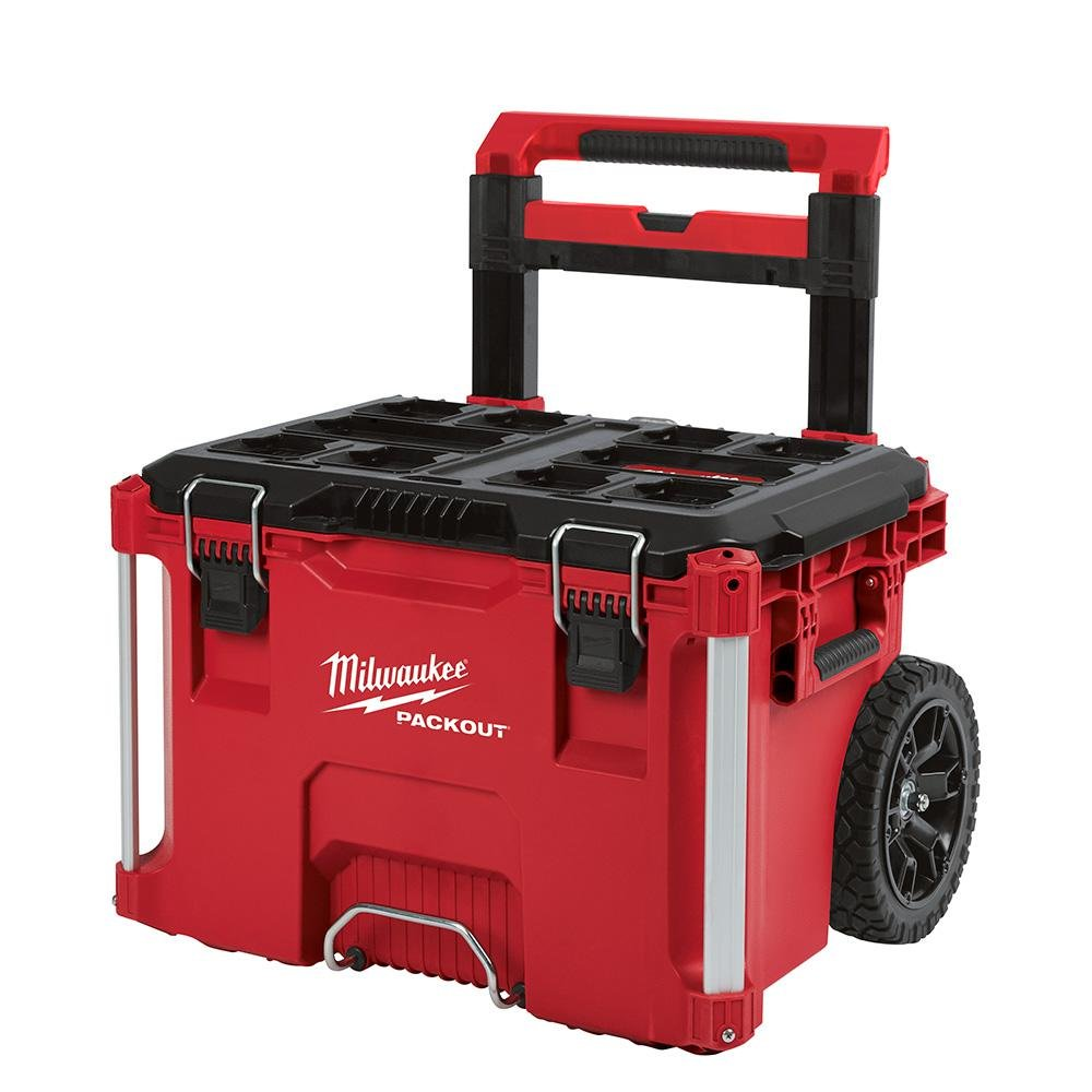 2e01e80be44 Milwaukee 22 in. Packout Rolling Modular Tool Box Stackable Storage System