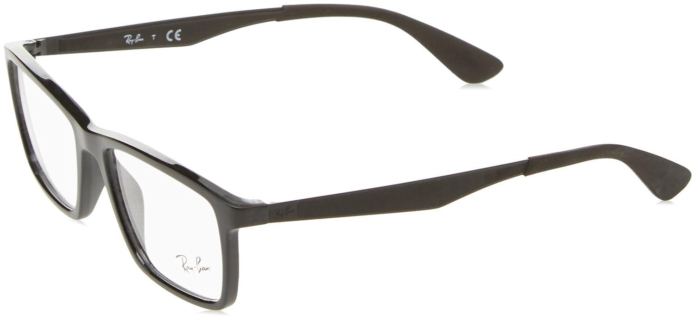 fbeb8f04a9 Amazon.com  Ray-Ban Men s 0rx7056 No Polarization Rectangular Prescription  Eyewear Frame