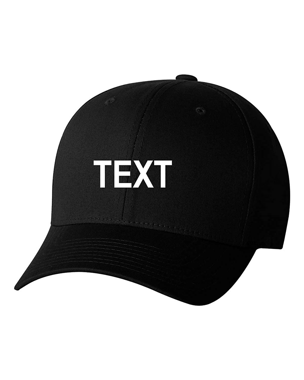 dbae46da274bb Flexfit Custom Name Embroidered 5001 V-Flex Twill Fitted Baseball Cap at  Amazon Men s Clothing store