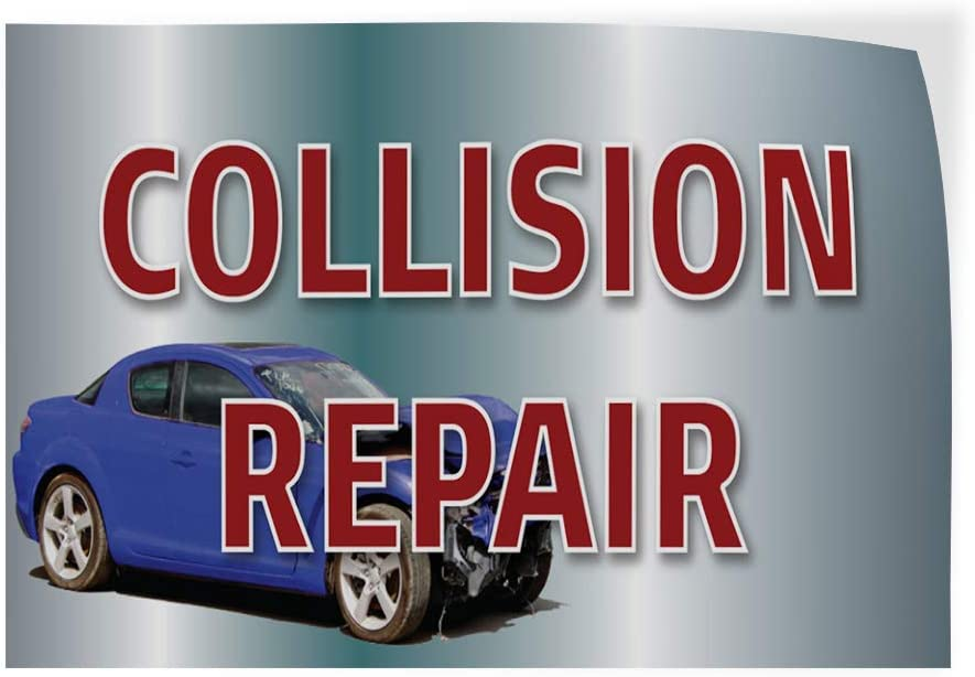 Decal Sticker Multiple Sizes Collision Repair Auto Car Vehicle Style T Automotive Collision Repair Outdoor Store Sign Aqua-Blue Set of 5 27inx18in