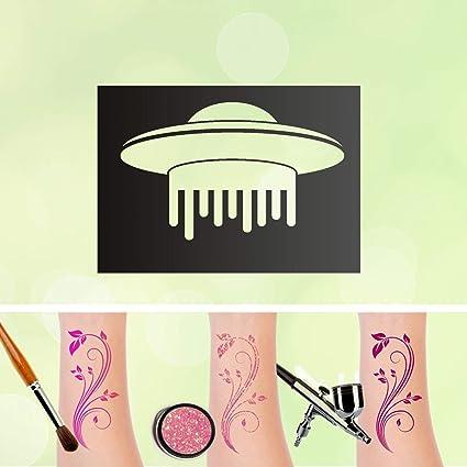 Plantilla de tatuaje para niños con aerógrafo de UFO, autoadhesiva ...