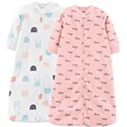 Carter's Baby 2-Pack Microfleece Sleepbag (Pink/Multi, Small)