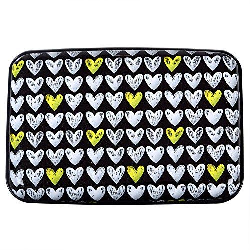 - Aluminum Wallet RFID Blocking Slim Metal Business Credit Card Holder Hard Case (Hearts)
