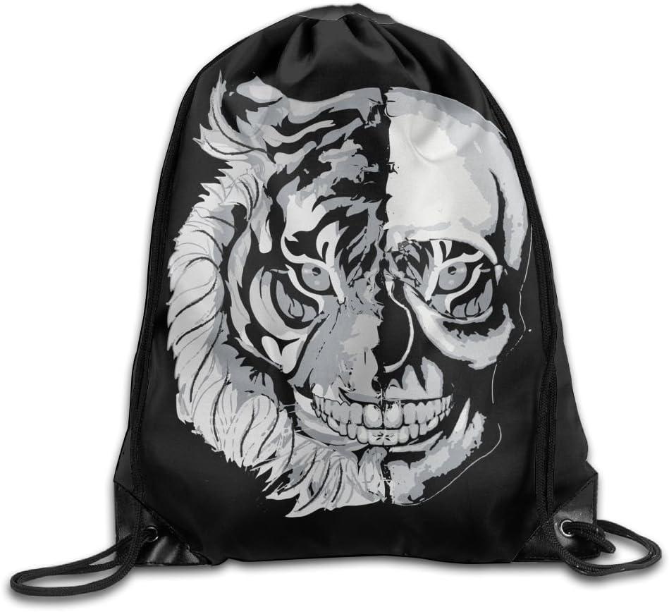 Tiger Skull Folding Sport Backpack Portable Travel Daypack Gym Bag