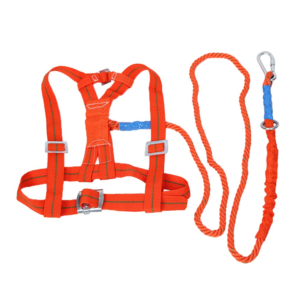 Homyl Industrial Fall Protection Safety Harness Kit with Double Leg 10-Feet Shock Absorber Stretchable Lanyard and Hook Personal Fall Arrest System