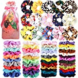 65 Pcs Hair Scrunchies Velvet Hair Scrunchies