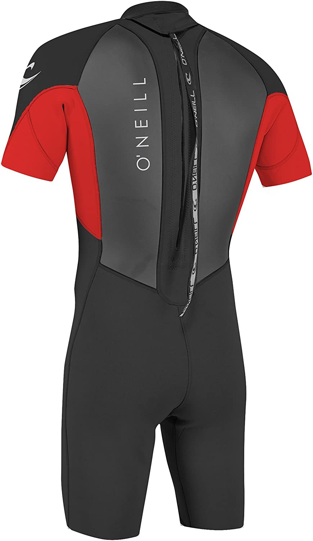 ONeill Mens Reactor-2 2mm Back Zip Short Sleeve Spring Wetsuit