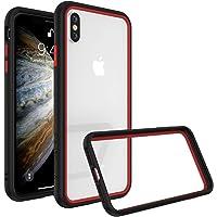 RhinoShield Coque pour iPhone X/XS [CrashGuard NX] Protection Fine Personnalisable - Absorption des Chocs [sans BPA] + [Programme de Remplacement Gratuit] - Combo Noir/Rouge