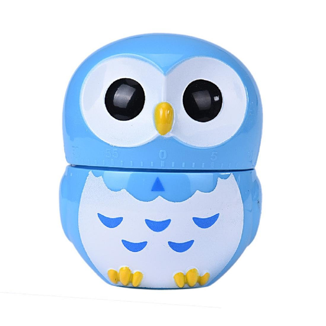 Coromose Owl Timer Kitchen 60 Minute Cooking Mechanical Home Decoration (Blue)