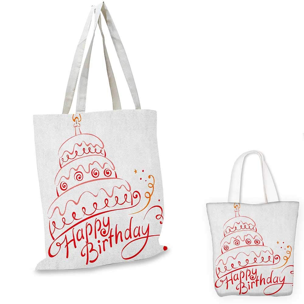 Birthday canvas messenger bag Colorful Pretty Triangular Party Flags on the Ropes Swirls and Stars Kids Design canvas beach bag Multicolor 16x18-13