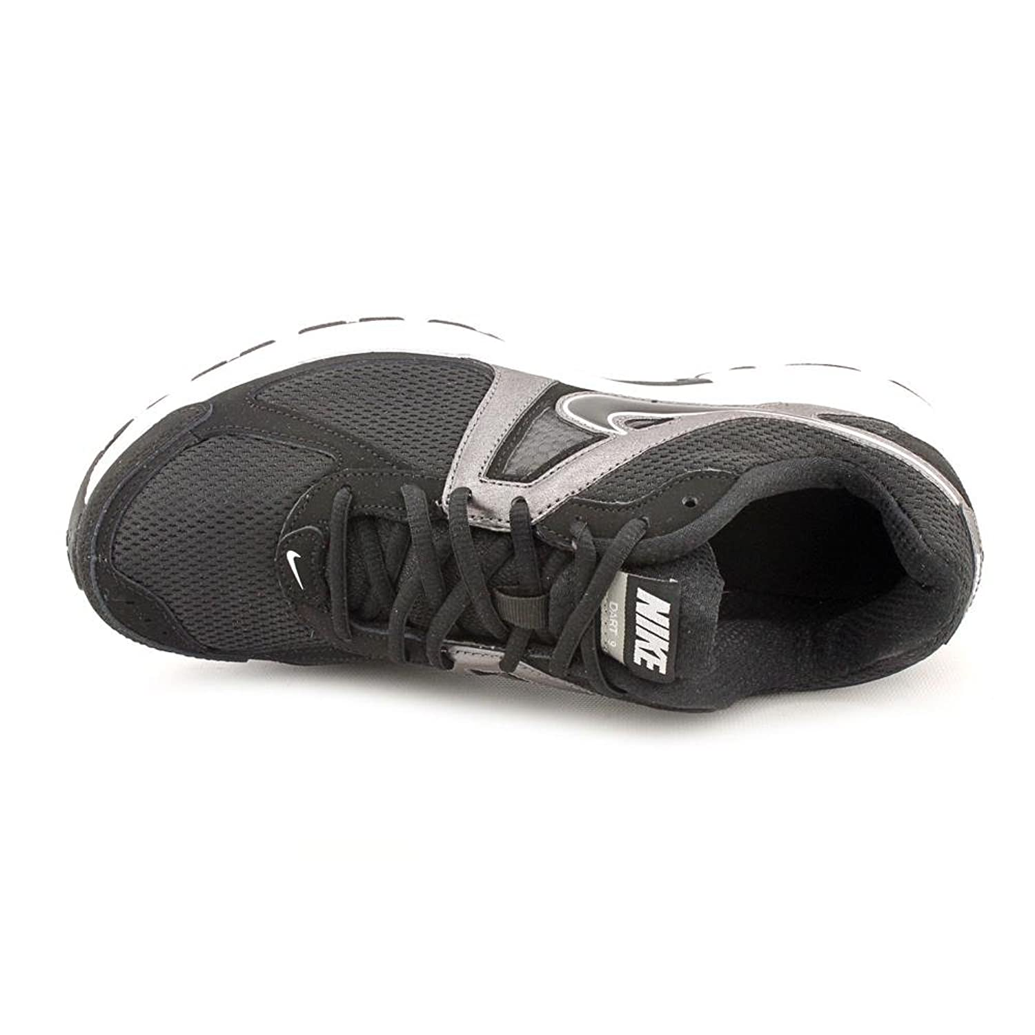 2646e6fe40ee03 ... cheapest amazon nike mens dart 9 black black mtlc drk gry white running  shoe 10 men