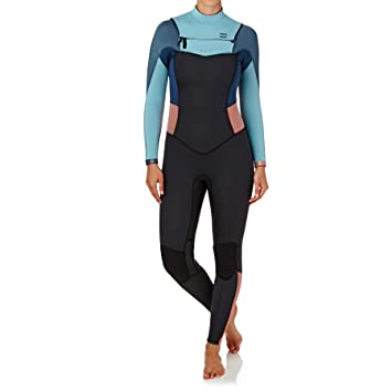 2017 Billabong Ladies 5/4mm Synergy Chest Zip Wetsuit AGAVE ...