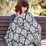#9: Nursing Cover, UHINOOS Lightweight Breathable 100% Cotton Breastfeeding Cover, Nursing Apron for Breastfeeding - Rigid Neckline, Full Coverage and Adjustable Strap