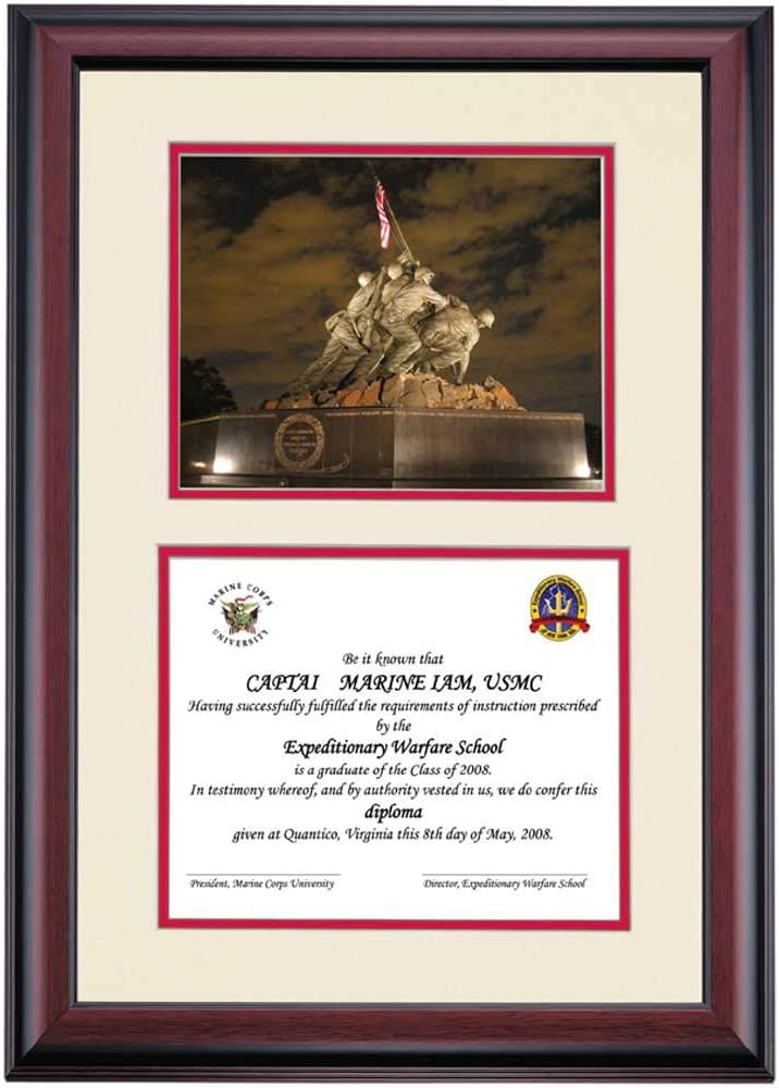 Amazon Com Ocm Diploma Frames Marine Corps University Displays Diploma Certificate Cherry Mat Home Office Office Professional Education Framed Diploma Graduation Gifts Custom Frame Wall Decor