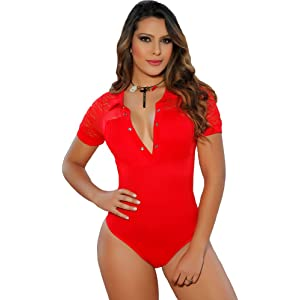 Aranza Blusa Faja Colombiana de Mujer Slimming Body Shaper Blouse Bodysuit Compression Red