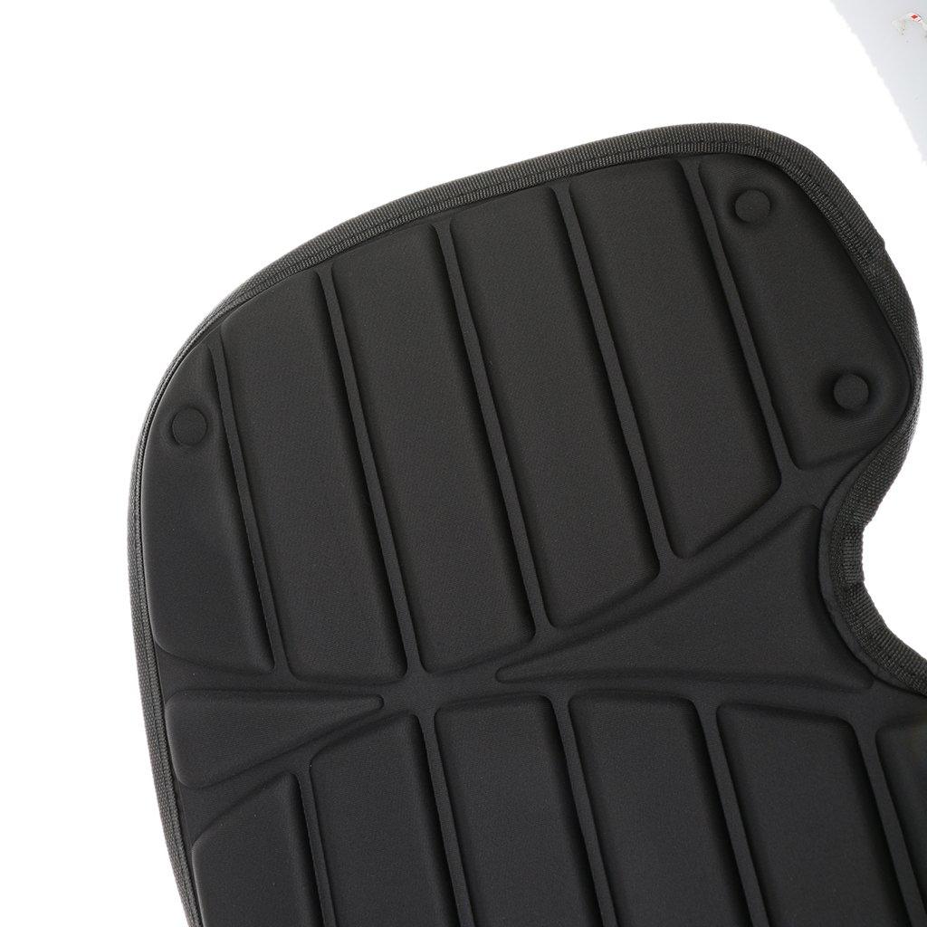 MagiDeal Coussin de Si/ège Dossier Avec Sac Comfort pour Kayak Cano/ë Bateau Noir