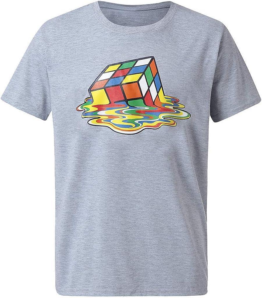 Verano Casual Camiseta Moda para Hombre Color AlgodóN O-Cuello Imprimir Manga Corta Top Blusa: Amazon.es: Ropa y accesorios