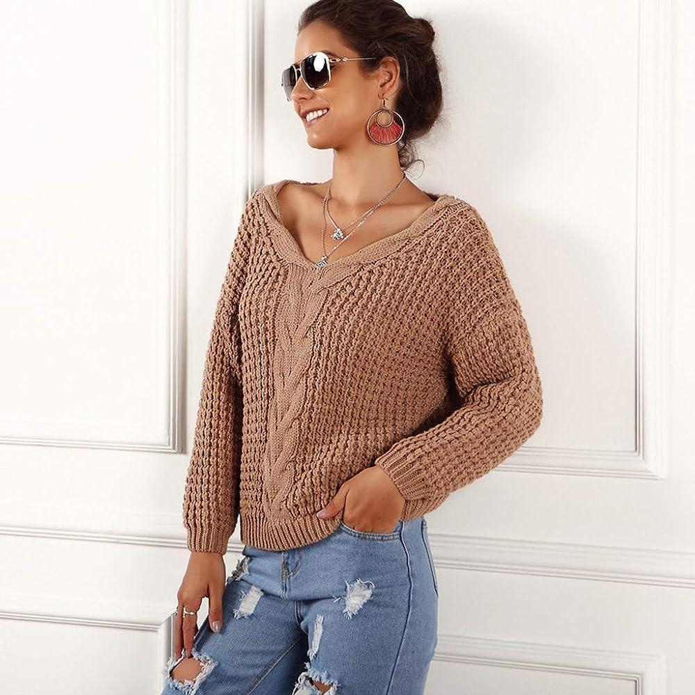 Jerseys Mujer Camisas de Moda Mujer Ocio otoño Color Puro Top ...
