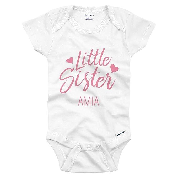 Amazon com: Little Sister Amia: Infant Gerber Onesie: Clothing