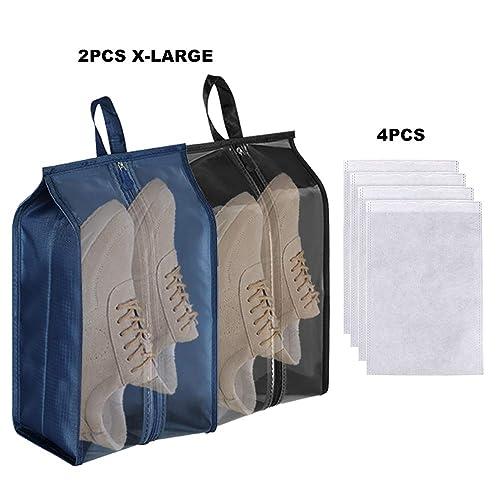 c39db0a87d87 Portable Shoe Bags for Travel Shoe Bags Set for Men Women, Oxford Shoe Bags  with Zipper Transparent Shoe Storage Bags Packing Shoe Organizer Pouch ...