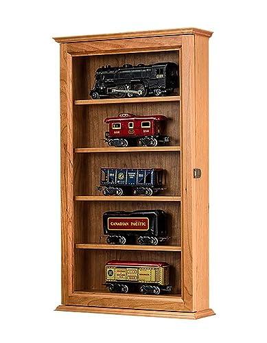 Amazoncom O Scale Model Train Display Case Wall CabinetCherry