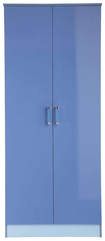 Home Source 2 Tones Colourful Children Kids 2 Door Tall Storage Wardrobe - Blue GX-OTT2WDBLB 2 Tones Robe Ble