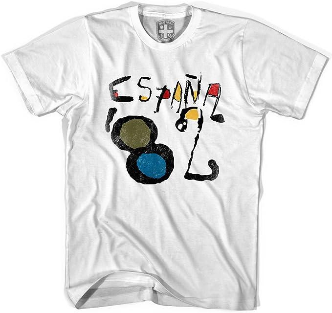MILE-END SPORTSWEAR Camiseta España Espana 82 Gris Gris frío. XL ...