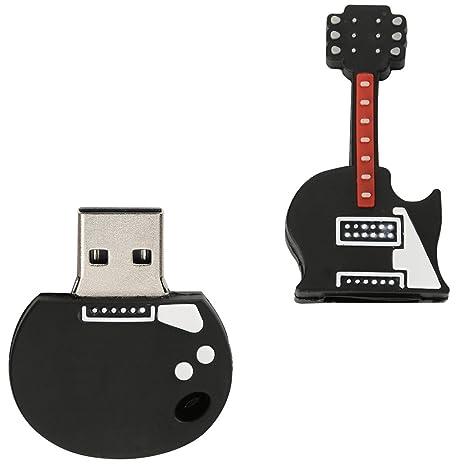 MagiDeal Flash Drive en Forma de Guitarra Eléctrica USB 2,0 Memoria Compatibilidad Universal 16GB