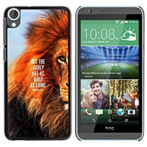 Impact Case Cover with Art Pattern Designs FOR HTC Desire 820 Lion Text Mane Inspiring Quote Summer Betty shop