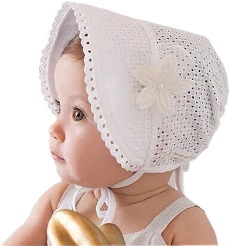 Parasole Cappellino Bimba Estate Idea Regalo Natale e Compleanno Neonata Righe Prima Infanzia Estivo Accessori Traforato Cappello Bambina Farfalla